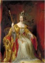 Young Queen Victoria at her coronation