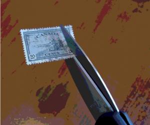 Les ciseaux et les timbres-un désastre!
