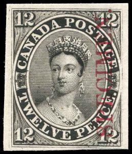 Canada Stamp #3Pi - Queen Victoria (1851) 12d