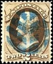 USA stamp with a leaf fancy cancel