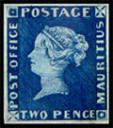 1847 blue penny