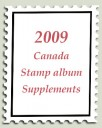 2009 canada stamp album supplements