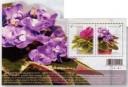 African violets-souvenir sheet