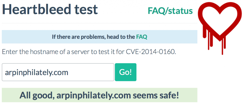 Heartbleed Test Results