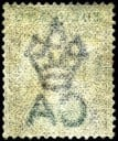 Stamp with Crown CA Watermark