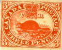 Three-pence beaver stamp