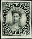 An example of Canada-1851 12d black