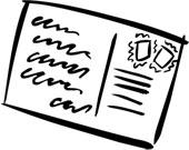 Les enveloppes et les cartes postales sont des sources de timbres!