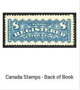 Canada BOB stamps.