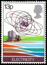 Great Britain stamp with cameo silhouette**