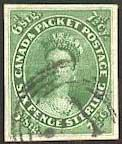 Well centered imperforate stamp