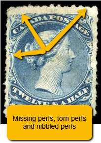 stamp perforations