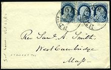 Old USA stamp cover-1859 (courtesy of Wikipedia)