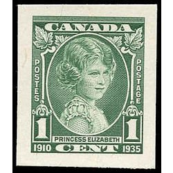 Scan of young Queen Elizabeth plate proof