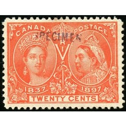 SPECIMEN stamp from Diamond Jubilee issue