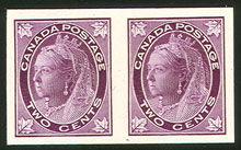 Canada Stamp #68P pair