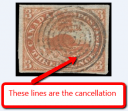 A stamp with a cancellation