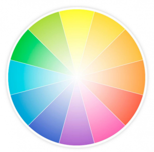 How to identify stamp colors-image of a color wheel