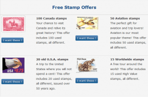 Free stamp offer
