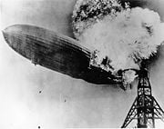 Hidenburg zeppelin burning