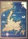 Silk Screen Map of Newfoundland