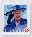 Queen Elizabeth II permanent-rate stamp